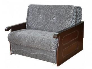 Серый прямой диван Кардинал 4 - Мебельная фабрика «Росмебель», г. Боголюбово