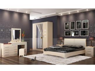 Спальный гарнитур Спальня Петра-М Млечный дуб - Мебельная фабрика «Уфамебель»