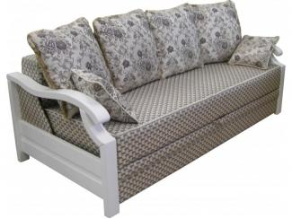 Прямой диван с деревянными ручками София 14 - Мебельная фабрика «Diva-N»