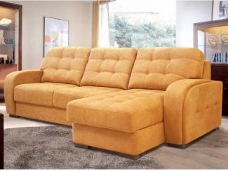 Тканевый диван в оранжевом цвете