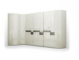 Модный радиусный шкаф-купе Space Sp106  - Мебельная фабрика «Астрон»