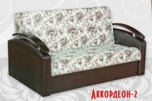 диван прямой Аккордеон 2 декор дуга - Мебельная фабрика «Барокко»