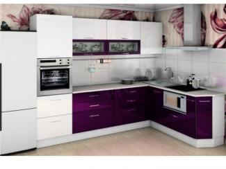 Кухня Санрайс 1,5 белый баклажан  - Импортёр мебели «Мебель Глобал (Малайзия, Китай, Тайвань)»