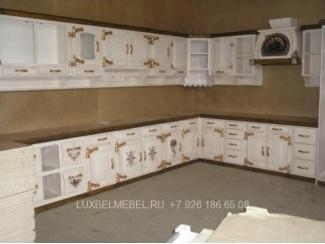 Белая кухня из массива 0943 - Мебельная фабрика «Тамерлан-Стиль (ЛюксБелМебель)»