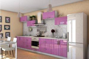 Кухонный гарнитур Пурпур   - Мебельная фабрика «Славные кухни (ИП Ларин В.)»