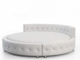 Круглая белая кровать - Мебельная фабрика «Уют»