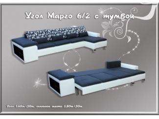 Угловой диван Марго 6-2 с тумбой
