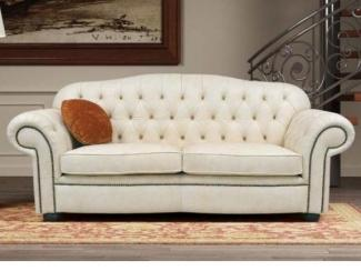 Белый диван с каретной стяжкой Cuore - Импортёр мебели «Spazio Casa»