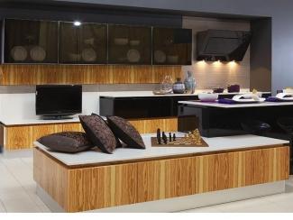 Кухня прямая Валенса wood - Мебельная фабрика «Атлас-Люкс»