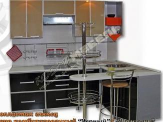 Кухонный гарнитур угловой Черный-шампань