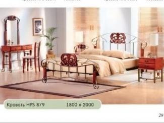 Кровать с кованными спинками HPS 879 - Мебельная фабрика «Бис»