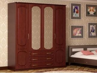 Шкаф 4-х створчатый МДФ - Мебельная фабрика «Лига Плюс»