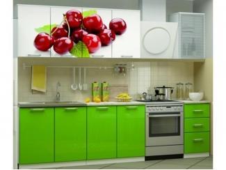 Кухня ЛДСП с фотопечатью Вишня - Мебельная фабрика «Альбина»