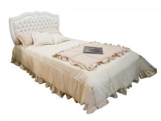 Кровать изголовье обитое кожей