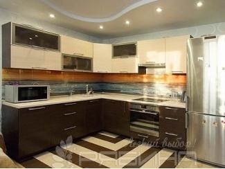 Кухня с фасадами из шпона Делфт  - Мебельная фабрика «Рябина», г. Москва