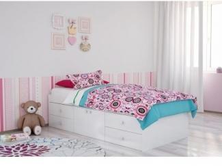 Кровать белая POLINI SIMPLE - Мебельная фабрика «Воткинская промышленная компания»