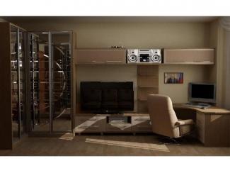Угловая мебель для гостиной с рабочей зоной  - Мебельная фабрика «Передовые технологии дизайна»