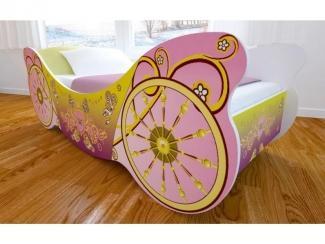 Кровать детская с матовой фотопечатью Карета