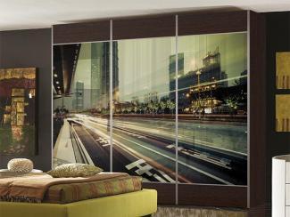 Шкаф-купе Бизнес с фотопечатью - Мебельная фабрика «Виктория»