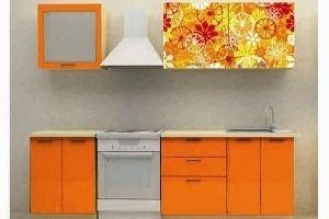Кухонный гарнитур Оранжевый орнамент - Мебельная фабрика «Союз-мебель»