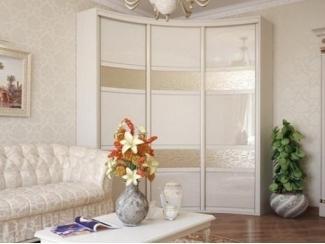 Элитный радиусный шкаф-купе в гостиную - Мебельная фабрика «Вектра-мебель»