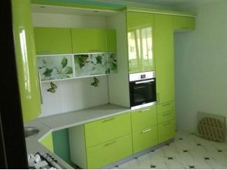 Угловая зеленая кухня - Мебельная фабрика «Люкс-С»