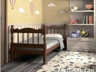 Детская кровать Аленка орех - Мебельная фабрика «Мебельная Сказка»