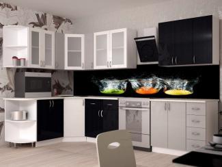 Черно-белая кухня Смак 14 - Мебельная фабрика «Лига Плюс»