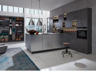 Кухня угловая  Negro Jade Черный Нефрит