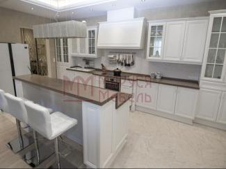 Кухня прямая Белая классика массив - Мебельная фабрика «Маруся мебель»