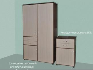 Шкаф двухстворчатый для платья и белья Флагман 4 - Мебельная фабрика «МВМ», г. Волжск