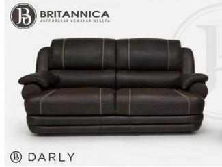 Прямой кожаный диван Дарли - Мебельная фабрика «Британника»