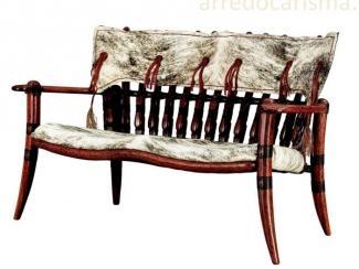 диван из массива пальмы и шкур - Импортёр мебели «Arredo Carisma (Австралия)»