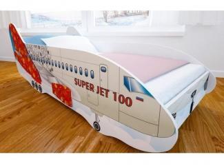 Кровать детская с матовой фотопечатью Самолет