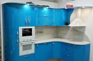 Голубая кухня Глория  - Мебельная фабрика «Крафт»