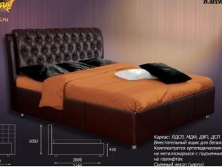 Темная кровать Клеопатра  - Мебельная фабрика «Панда», г. Кузнецк