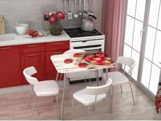 Стол с фотопечатью  Клубника - Мебельная фабрика «Стендмебель»