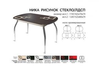 Стол раздвижной Ника со стеклом - Мебельная фабрика «Mebel.net», г. Череповец