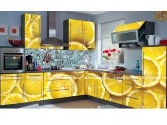 Кухня угловая Александрия Лимоны