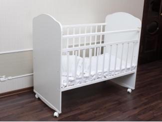 Детская кроватка Золушка 8 (колесо +качалка)  - Мебельная фабрика «Агат»