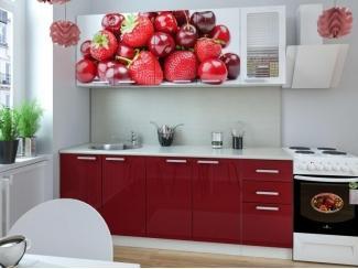 Кухня с фотопечатью Ягоды