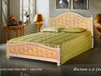 Кровать Вилия кожа - Мебельная фабрика «Альянс 21 век»