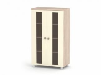 Шкаф распашной АВРОРА 2-х дверный с витриной - Мебельная фабрика «Баронс»