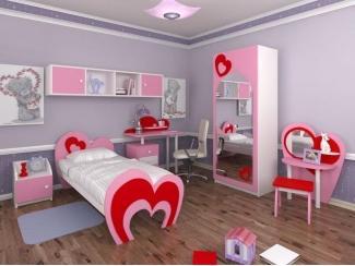 Детская мебель для девочки Сердечки - Мебельная фабрика «ИнтерМебельДизайн»