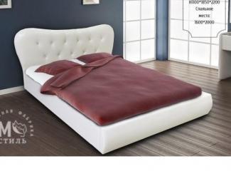 Элегантная белая кровать Лавита  - Мебельная фабрика «М-Стиль»