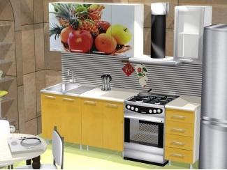 Желтая кухня Фрукты фотопечать