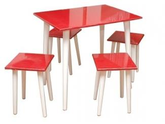 Стол кухонный и табуреты - Мебельная фабрика «Вивека»