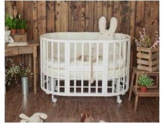 Кроватка детская круглая-овальная - Мебельная фабрика «Успех»