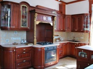 Кухонный гарнитур Береза цвет вишня - Мебельная фабрика «ARVA»
