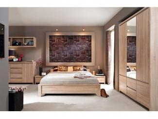 СПАЛЬНЯ КАСПИАН ДУБ СОНОМА - Импортёр мебели «БРВ-Мебель (Black Red White)»